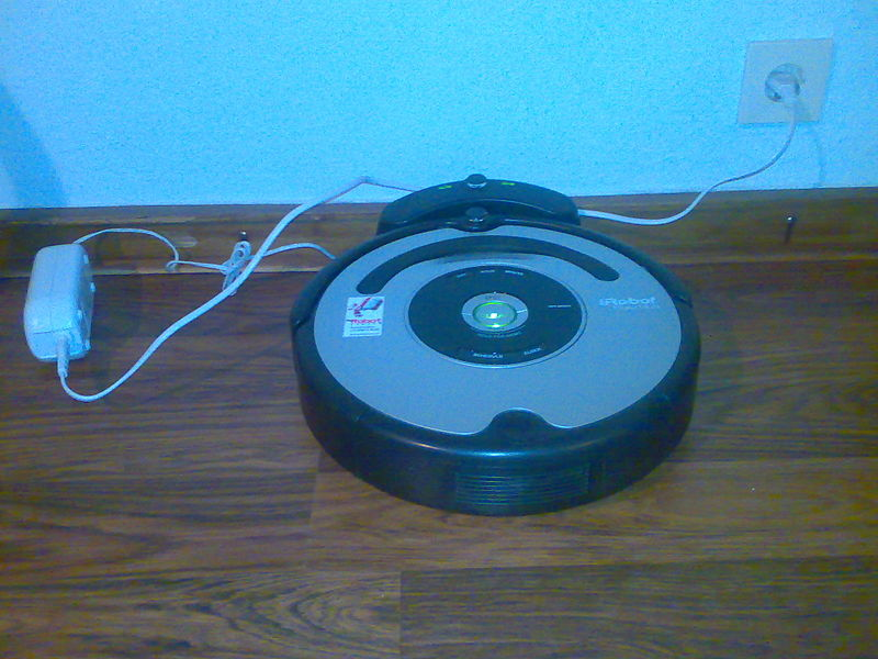 Charging Roomba